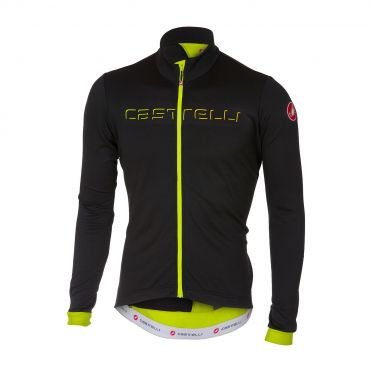 Castelli Fondo long sleeve jersey black/yellow fluo men