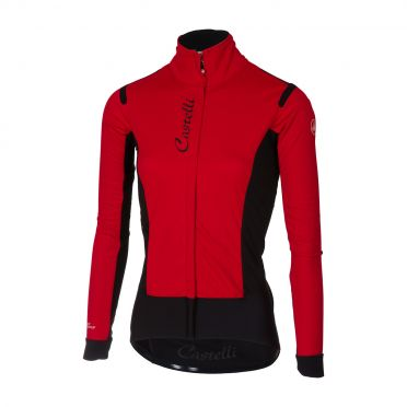 Castelli Alpha RoS W jacket red/black women