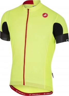 Castelli Aero race 4.1 solid jersey yellow fluo men
