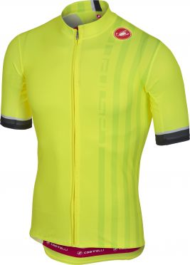 Castelli Podio doppio jersey yellow fluo men
