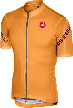 Castelli Entrata 3 jersey short sleeve orange men