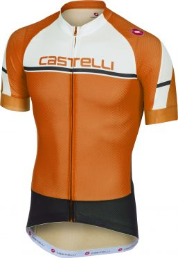 Castelli Distanza jersey orange men