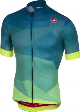 Castelli Flusso jersey blue/yellow fluo men