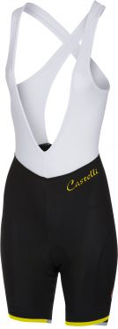 Castelli Vista bibshort black/yellow fluo women