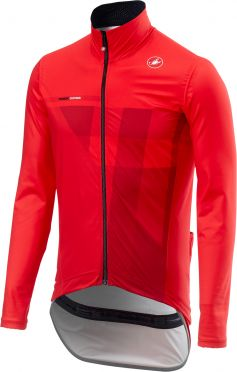 Castelli Pro fit light rain jacket red men