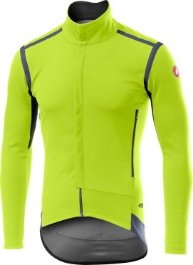 Castelli Perfetto RoS long sleeve jacket fluo yellow men