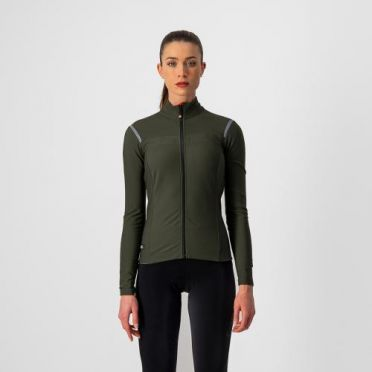 Castelli tutto nano RoS jersey long sleeve green woman