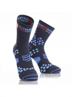 Compressport V2.1 winter running socks blue