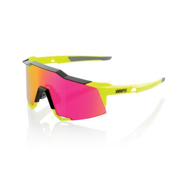 100% Speedcraft glasses yellow with mirror lens