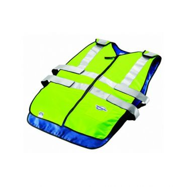 TechNiche TechKewl phase change traffic safety cooling vest yellow