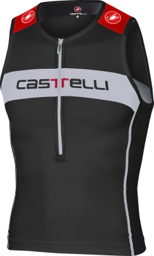 Castelli Core tri top black/white/red men 14108-010