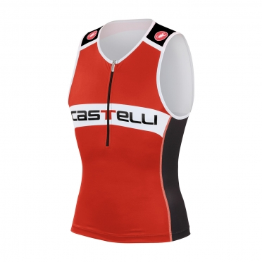 Castelli Core tri top red/black men 14108-023