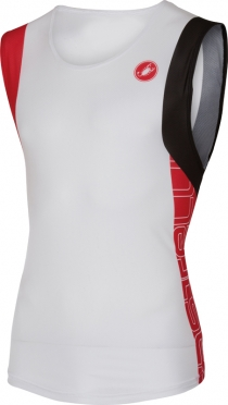 Castelli T.O. alii run top men white/red 16067-123