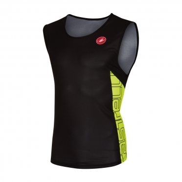 Castelli T.O. alii run top men black/yellow 16067-321