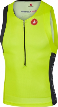Castelli Free tri top yellow/anthracite men