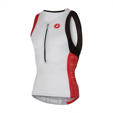 Castelli Free tri top men white/red 16069-123