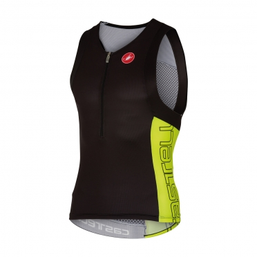 Castelli Free tri top men black/yellow 16069-321