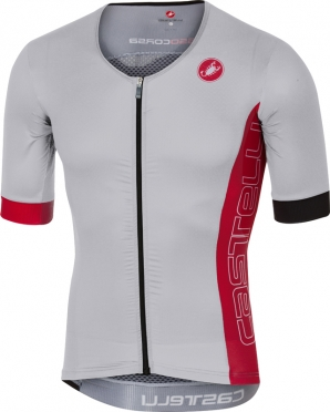Castelli Free speed race jersey tri top white/red men