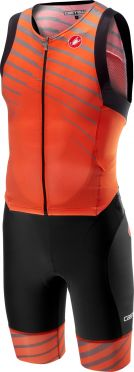 Castelli Free sanremo trisuit sleeveless black/orange men