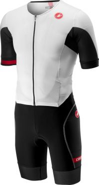 Castelli Free sanremo trisuit short sleeve white/black men