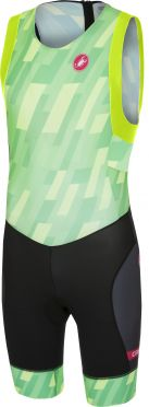Castelli Short distance race trisuit back zip sleeveless pro green/black men