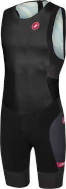 Castelli Short distance race trisuit back zip sleeveless black men