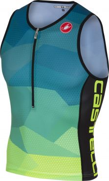 Castelli Core 2 tri top blue/yellow fluo men