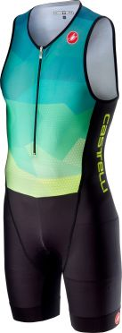 Castelli Core trisuit blue/yellow fluo men