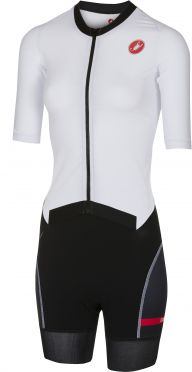 Castelli All out W speed trisuit short sleeve white/black women