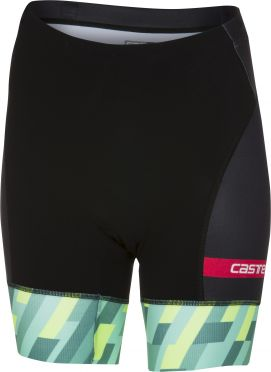 Castelli Free W tri short black/mint/yellow women