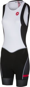 Castelli Free W tri ITU suit back zip sleeveless white/black women