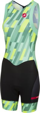 Castelli Free W tri ITU suit back zip sleeveless mint/yellow/black women