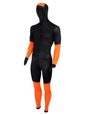 Craft Skate speed suit colorblock black/orange unisex
