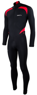 Craft Thermo skatesuit colorblock black/red unisex