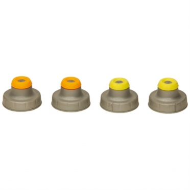 Nathan Push Pull Caps 4-Pack Silver 975246