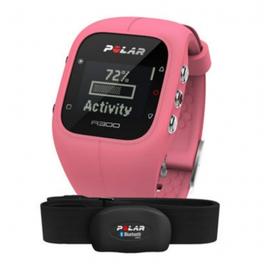 Polar A300 sports watch pink with heart rate