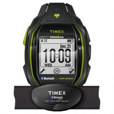 Timex Ironman sports watch Run x50+ w/HRM Anthracite/Lime TW5K88000