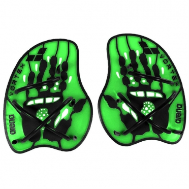 Arena Vortex Evolution hand paddles green