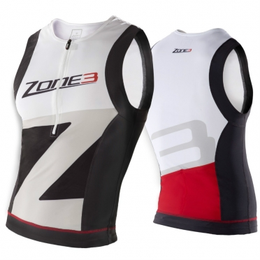Zone3 lava tri top men's black/white/grey/red 2015
