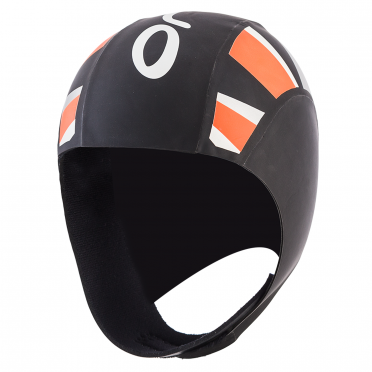 Orca Neoprene thermal swimcap black/orange