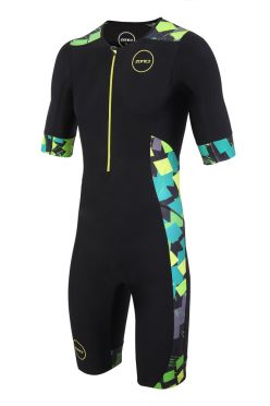 Zone3 Activate plus short sleeve trisuit Electric sprint men