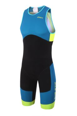 Zone3 Aeroforce sub 220 sleeveless trisuit blue/black men
