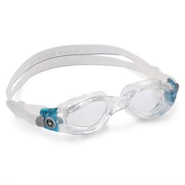Aqua Sphere Kaiman clear lens small fit swimming goggles aqua/white