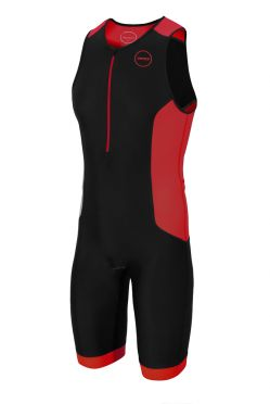 Zone3 Aquaflo plus sleeveless trisuit black/red men