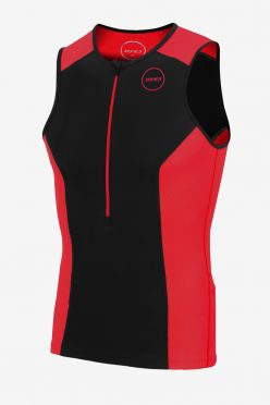 Zone3 Aquaflo plus sleeveless tri top black/red men