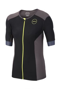 Zone3 Aquaflo plus short sleeve tri top black men