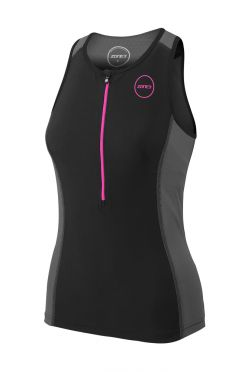 Zone3 Aquaflo plus sleeveless tri top black women