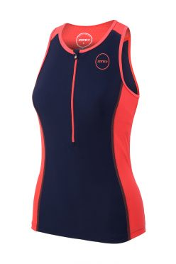 Zone3 Aquaflo plus sleeveless tri top blue/pink women