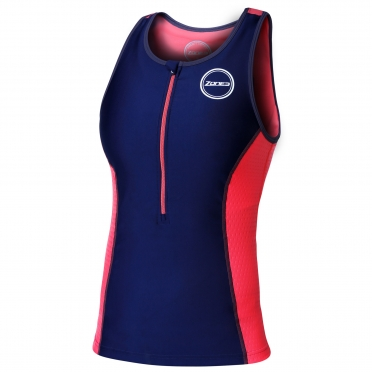 Zone3 Aquaflo Tri Top navy/coral women