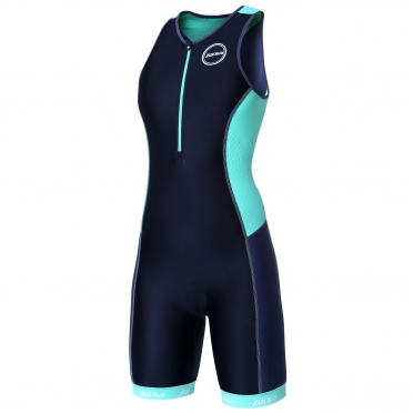 Zone3 Aquaflo plus tri suit black/mint green women